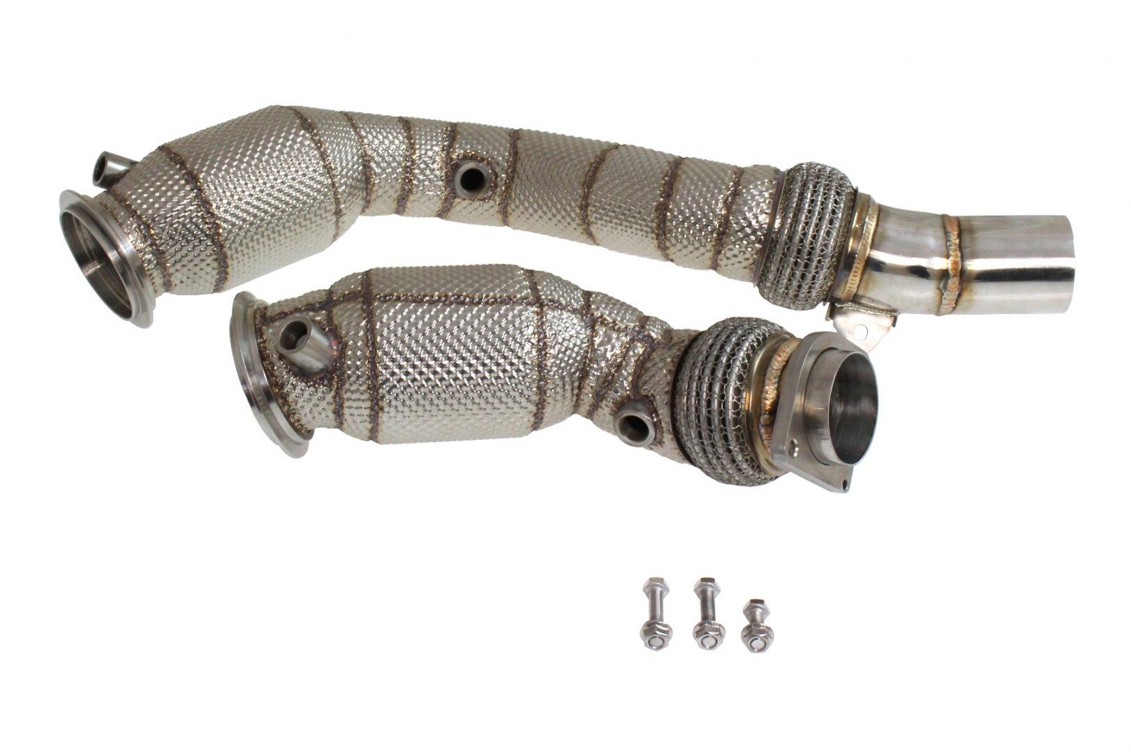 Downpipe BMW F82 F83 M4 S55 2013+ kat 200cell Heat Shield - GRUBYGARAGE - Sklep Tuningowy